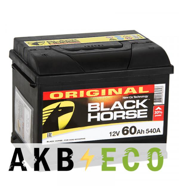 Автомобильный аккумулятор Black Horse 60L 540A 242x175x190