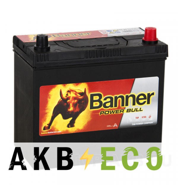 Автомобильный аккумулятор BANNER Power Bull (45 23) 45R 390A 236x126x227