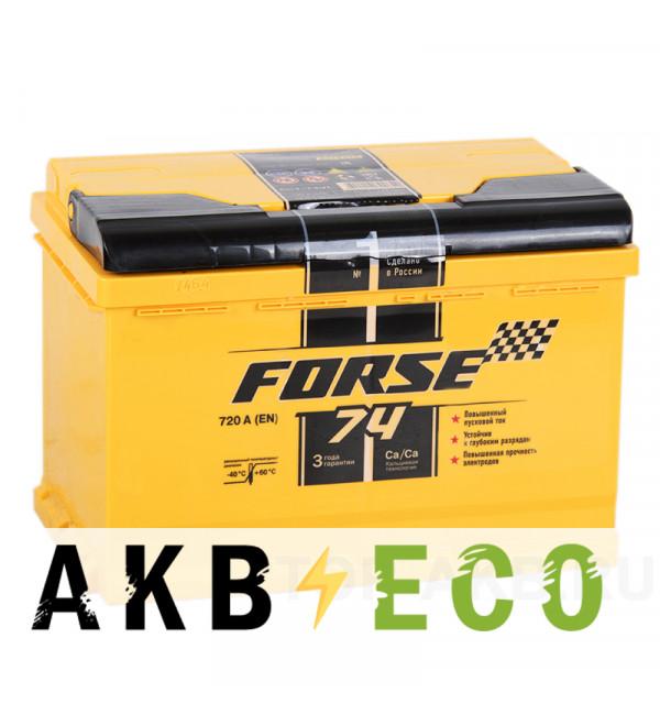 Автомобильный аккумулятор Forse 74L 720A (278x175x190)