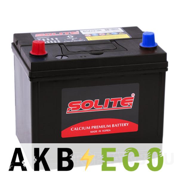 Автомобильный аккумулятор Solite 85D23R с бортиком (70L 580A 230x168x200)