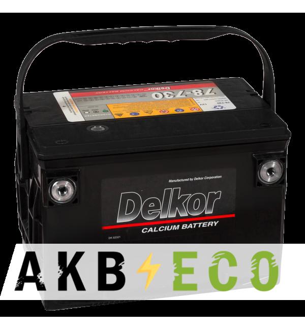 Автомобильный аккумулятор Delkor 78-730 бок. кл. (95L 780A 268x178x184)