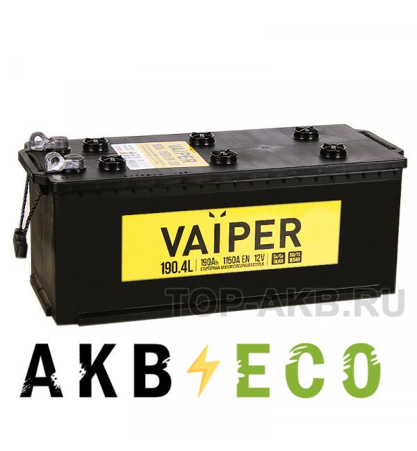 Грузовой аккумулятор Vaiper 190 рус 1150А 513x223x223 клеммы под болт