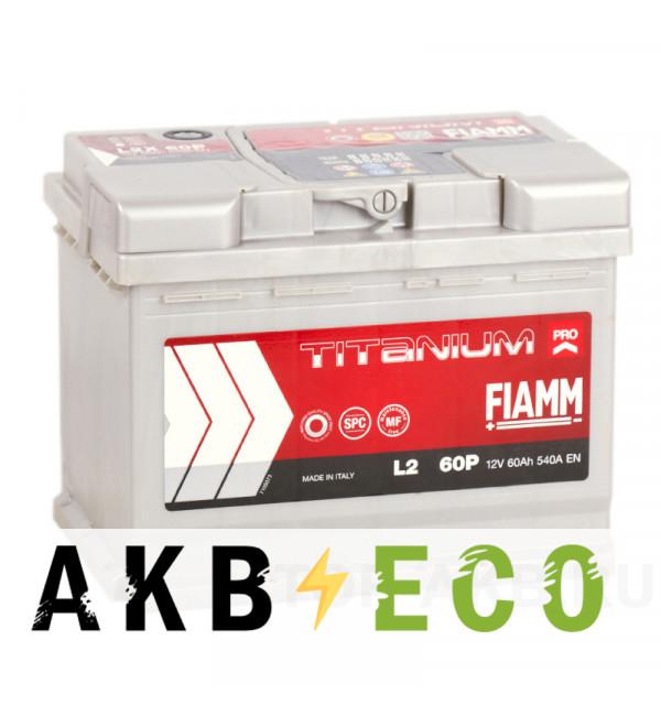 Автомобильный аккумулятор Fiamm Titanium Pro 60R 540A (241x175x190) L2 60P