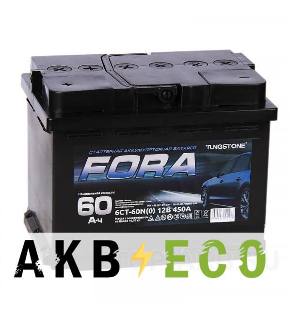 Автомобильный аккумулятор FORA 60L 450А 242x175x190
