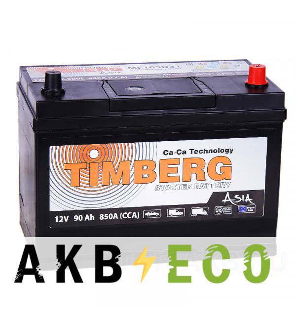 Автомобильный аккумулятор Timberg Asia 105D31L 90R 850A 296x172x220