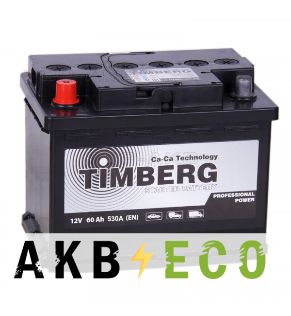 Автомобильный аккумулятор Timberg PRO 60L 530A 242x175x190