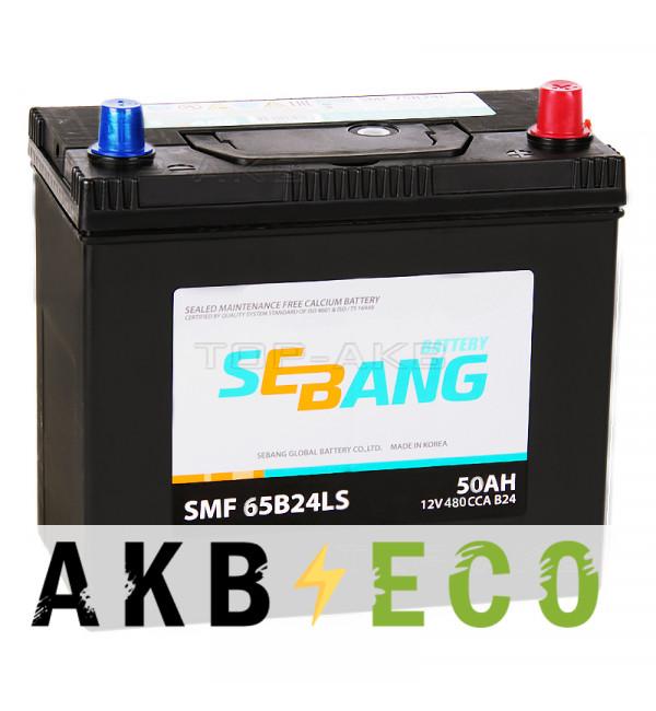 Автомобильный аккумулятор Sebang 65B24LS 50 Ач обратная пол. 480А (238x129x227)
