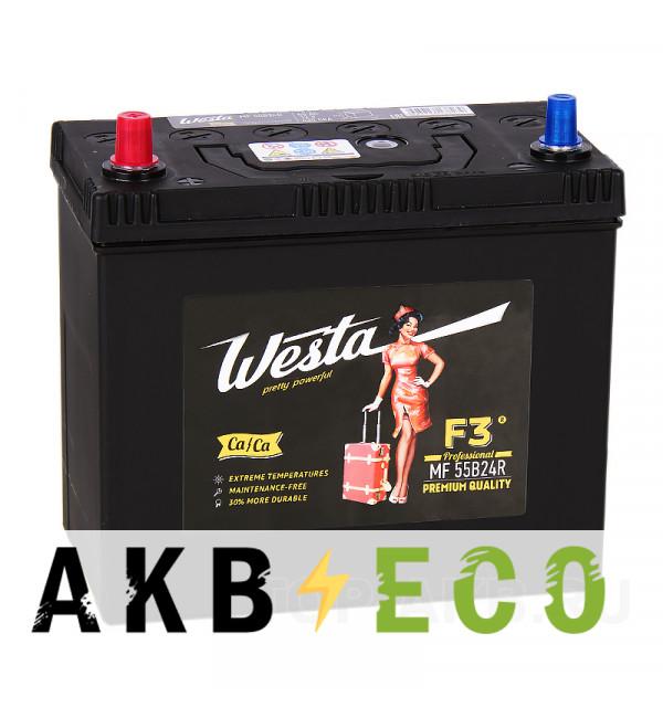 Автомобильный аккумулятор Westa 55B24R (45L 430A 238x129x227)