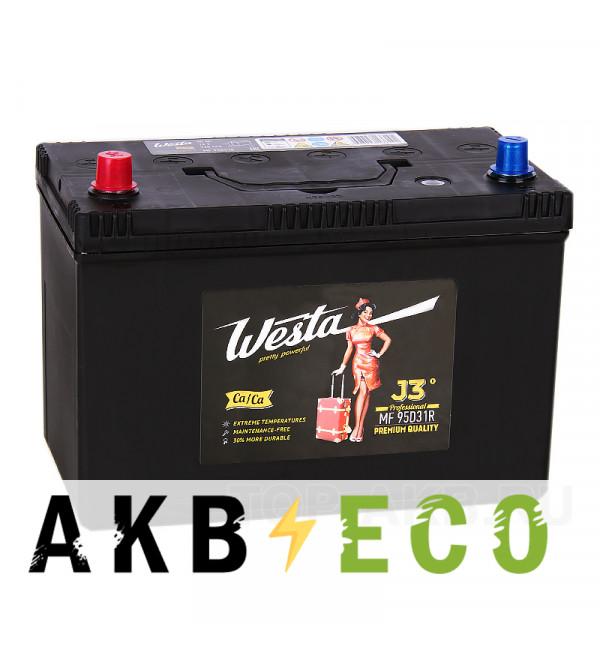 Автомобильный аккумулятор Westa 95D31R (90L 720A 306x173x225)