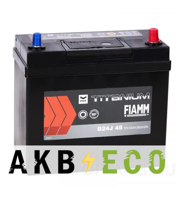 Автомобильный аккумулятор Fiamm Asia 45R (с переходником) 360A 238x129x225