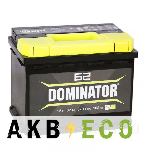 Автомобильный аккумулятор Dominator 62L 550А 242x175x190