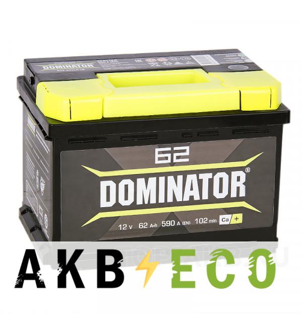 Автомобильный аккумулятор Dominator 62R низкий 550А 242x175x175