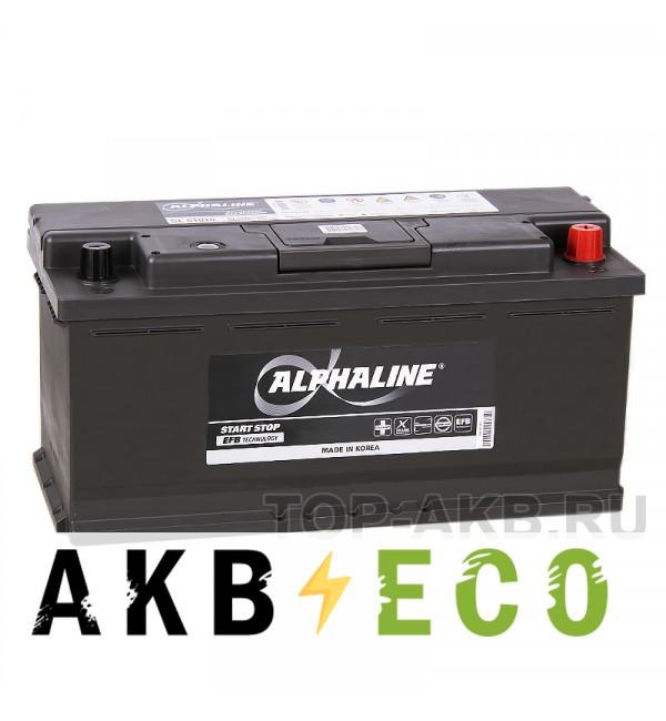 Автомобильный аккумулятор Alphaline EFB 110R (950A 393x175x190) SE 61010 Start-Stop