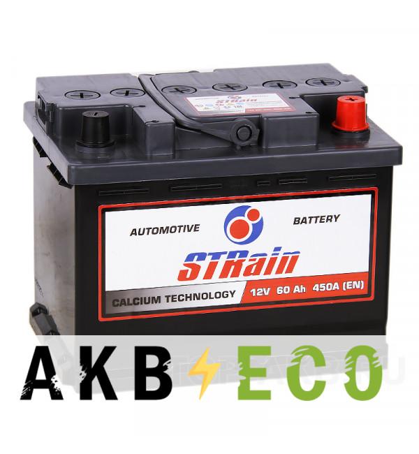 Автомобильный аккумулятор STrain 60R 450A 242x175x190