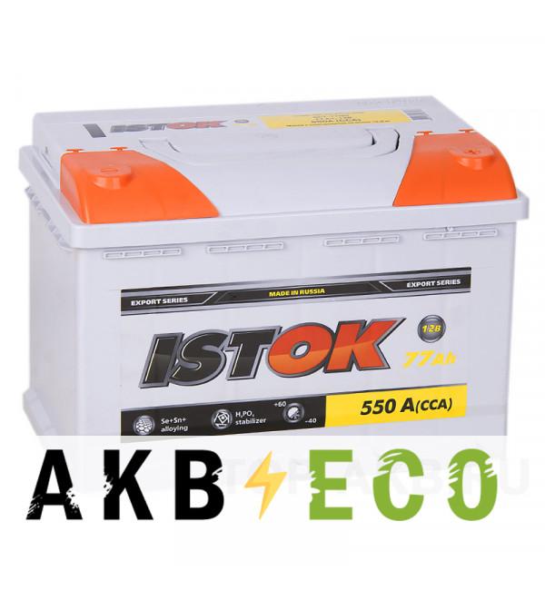 Автомобильный аккумулятор ISTOK 77R 550A (278x175x190)