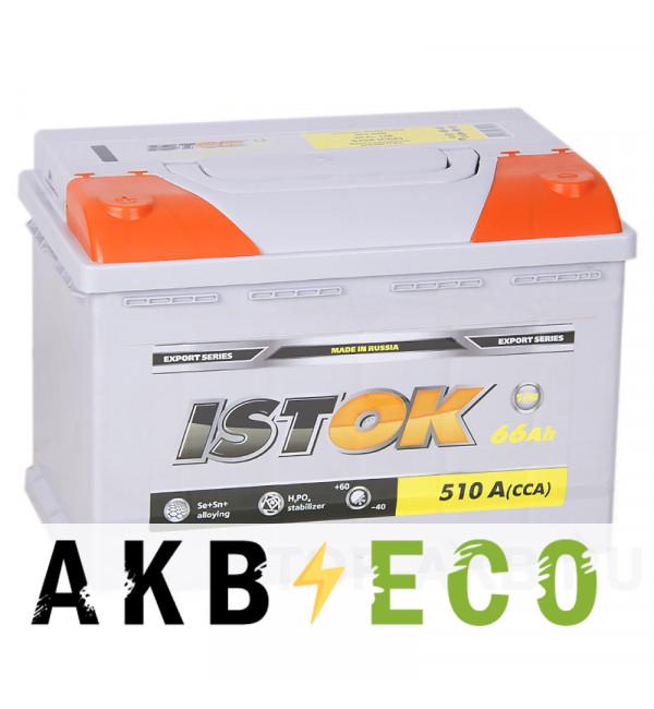 Автомобильный аккумулятор ISTOK 66L 510A (278x175x190)