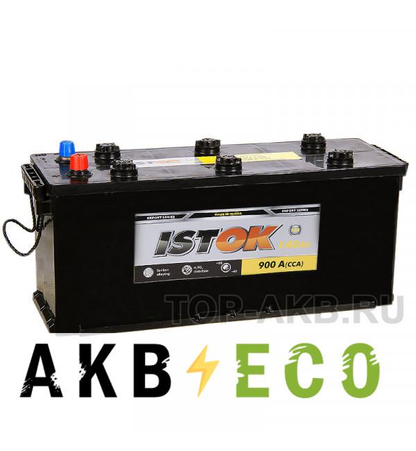 Грузовой аккумулятор ISTOK 140 рус 900A (513x189x223)