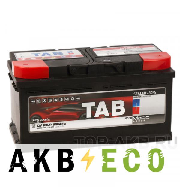 Автомобильный аккумулятор Tab Magic 100R (900A 353x175x190) 189800 60044