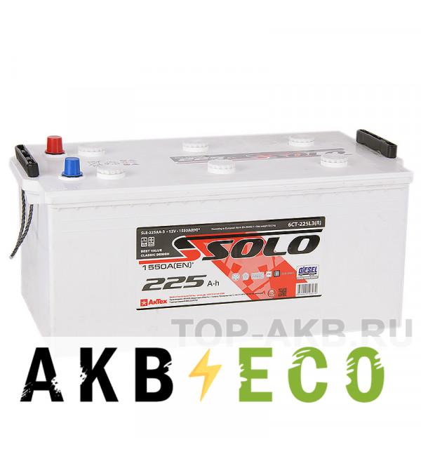 Автомобильный аккумулятор SOLO 225 евро (1550A 518х274х237)