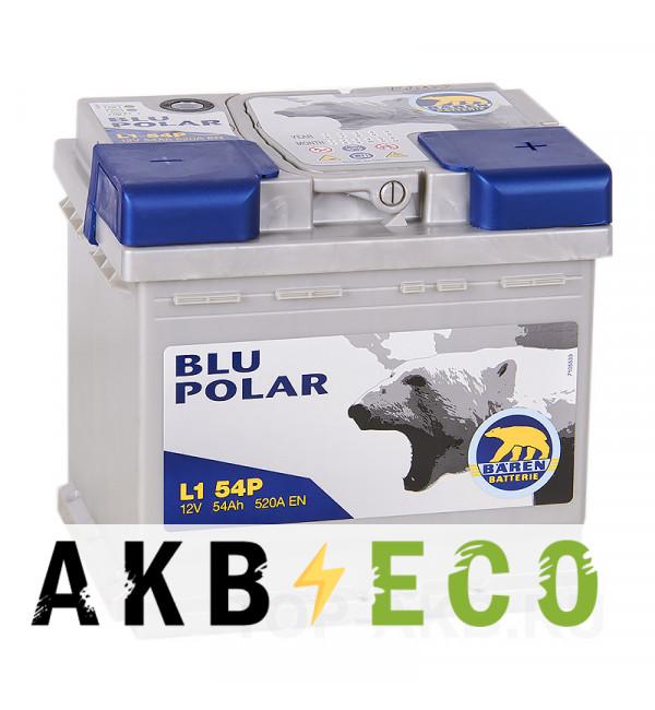 Автомобильный аккумулятор Baren Polar Blu 54R 520A 207x175x190 (L154P)