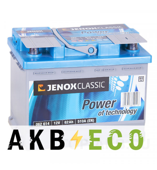 Автомобильный аккумулятор Jenox Classic 62R 510A 242x175x190
