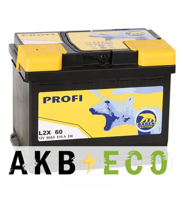 Автомобильный аккумулятор Baren Profi 60L 510A 242x175x190 (L2X60)