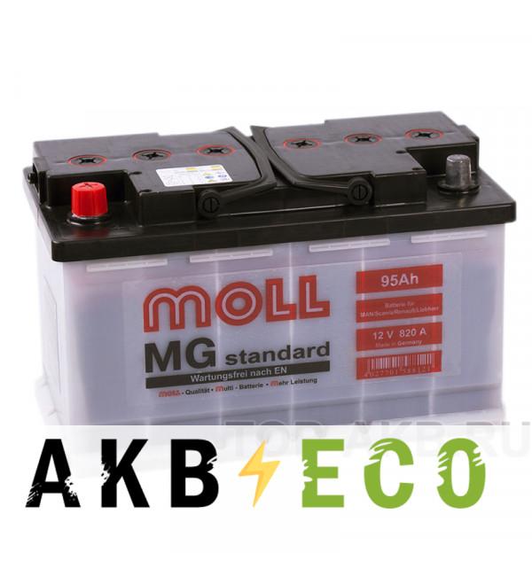 Автомобильный аккумулятор Moll MG Standard 95L 820A 315x175x190