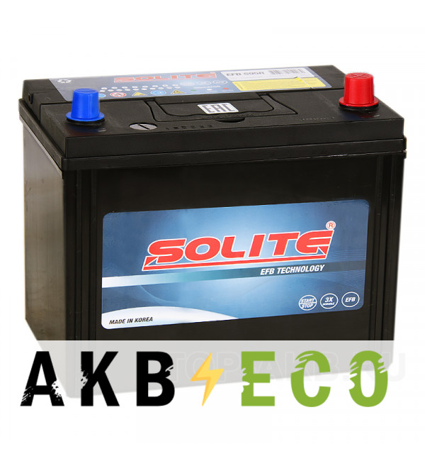 Автомобильный аккумулятор Solite EFB S95 Start-Stop (80R 790A 260x173x225)