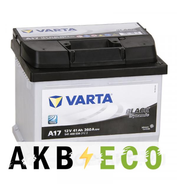 Автомобильный аккумулятор Varta Black Dynamic A17 41R 360A 207x175x175
