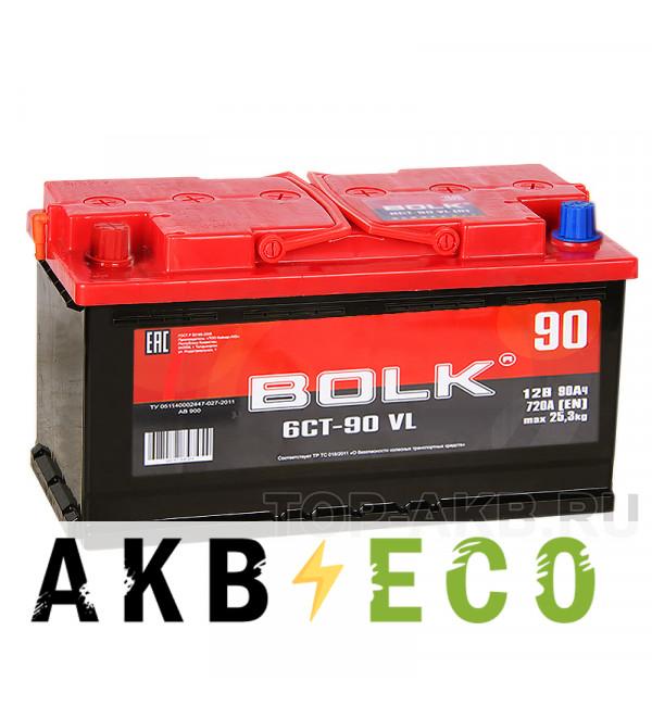 Автомобильный аккумулятор BOLK 90L 720A 353x175x190 AB900