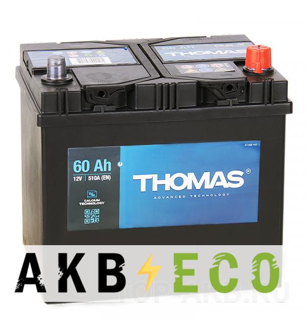 Автомобильный аккумулятор Thomas Asia 60R 510A 232x173x225