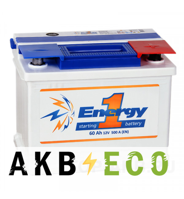 Автомобильный аккумулятор Energy ONE 60R 500А 242x175x190
