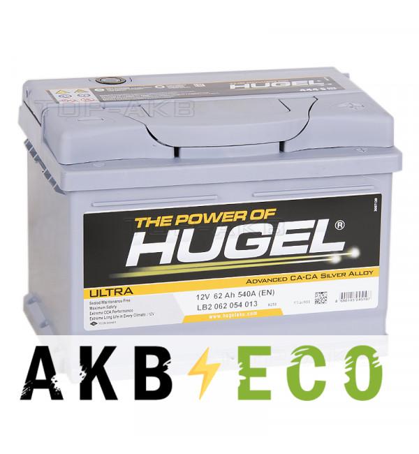 Автомобильный аккумулятор Hugel Ultra 62R низкий 540A (242x175x175) LB2 062 054 013