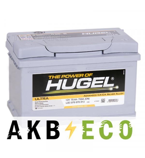 Автомобильный аккумулятор Hugel Ultra 70R низкий 700A (278x175x175) LB3 075 070 013