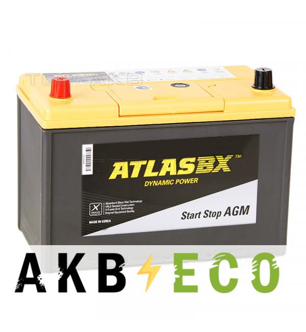 Автомобильный аккумулятор Atlas AGM AX S115D31R (90L 800A 306x175x225)