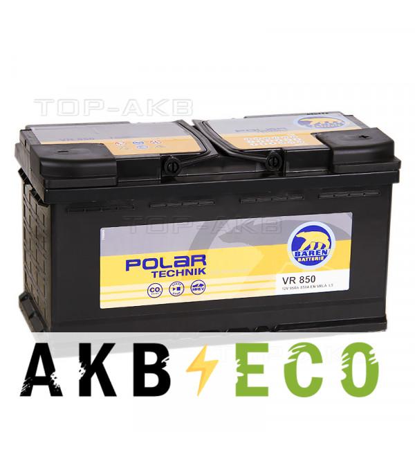 Автомобильный аккумулятор Baren Technik AGM 95 Ач обратная пол. (850A 353x175x190) VR850