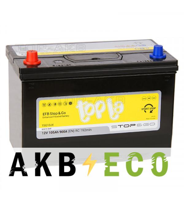 Автомобильный аккумулятор Topla EFB Stop-n-Go 105L (900A 306x173x225) 112105 60519