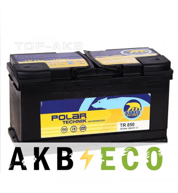 Автомобильный аккумулятор Baren Technik AFB 95 Ач обратная пол. (850А 353x175x190) TR850