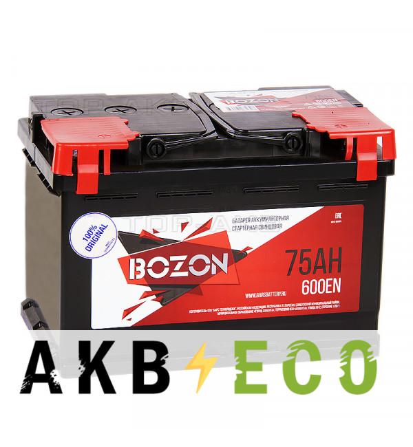 Автомобильный аккумулятор Bozon 75R 600A 278x175x190