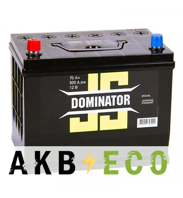 Автомобильный аккумулятор Dominator (JIS) 70 Ач 500А прямая пол.(260x173x225)