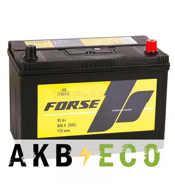 Автомобильный аккумулятор Forse JIS 115D31L 95 Ач 800А обратная пол. (302x173x225)