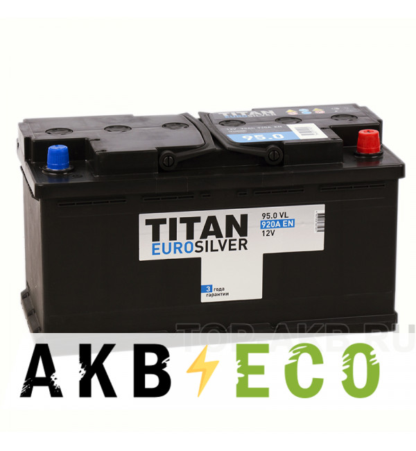 Автомобильный аккумулятор Titan Euro Silver 95R 920A 353x175x190