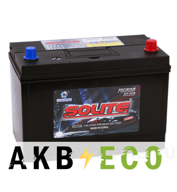 Автомобильный аккумулятор Solite Silver 125D31L с бортиком (110R 850А 301x175x220)