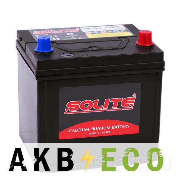 Автомобильный аккумулятор Solite CMF 50 AL (50R 470А 206x172x184)