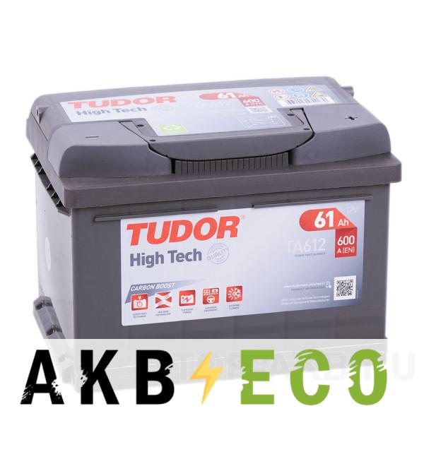 Автомобильный аккумулятор Tudor High-Tech 61R (600A 242x175x175) TA612