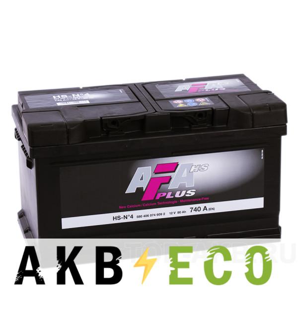 Автомобильный аккумулятор AFA Plus 80R 740A (315x175x175) HS-N