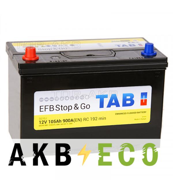 Автомобильный аккумулятор Tab EFB Stop-n-Go 105L (900A 306x173x225) 212105 60519