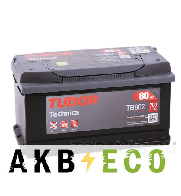 Автомобильный аккумулятор Tudor Technica 80R (700A 315x175x175) TB802