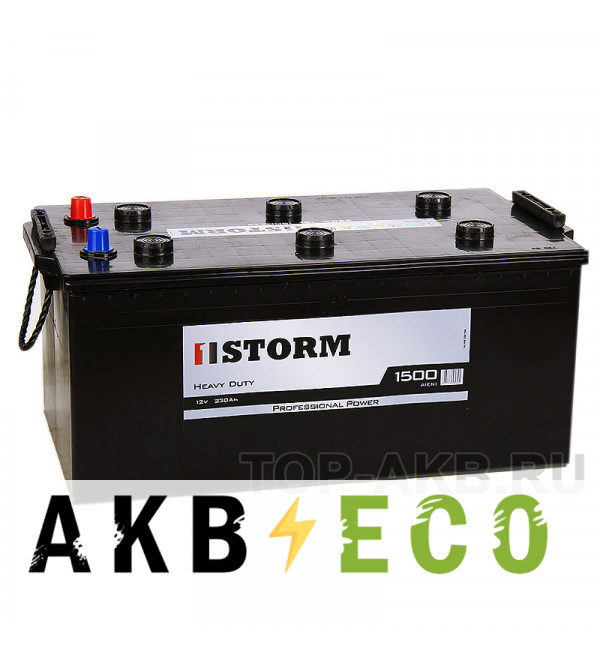 Автомобильный аккумулятор Storm Professional Power 230 евро 1500A 518x273x240