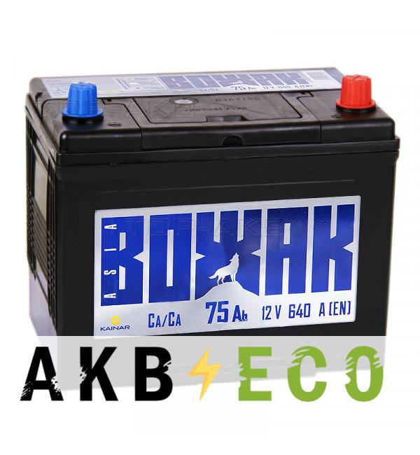 Автомобильный аккумулятор Вожак Asia 75R 640A (261x173x225)